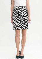 NWT Banana Republic New $89.50 Women Miranda Zebra Print Skirt Size 8, 12, 14