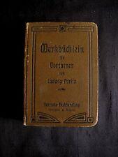 ANTIK 1905 Merkbüchlein für Vortuner von Ludwig Puritz Turnsport K0321