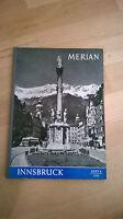 "MERIAN 1955 / Heft 8 ""INNSBRUCK"" - top !!!"