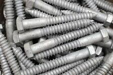 (10) Galvanized Hex Head 3/4 x 6 Lag Bolts Wood Screws