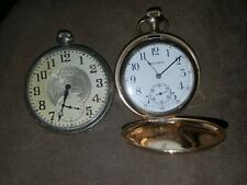 2 VINTAGE ELGIN  NATL WATCH AND Waltham CO POCKET WATCH 15 JEWELS