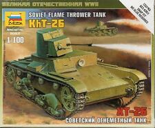 Zvezda 1/100 Soviet KHT-26 Flame Thrower Tank Z6165