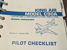 Beechcraft King Air C-90A Pilot's Normal Procedures Checklist