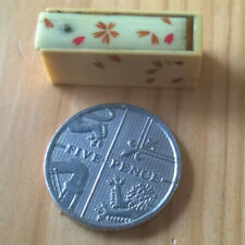 More details for very rare antique cased small hand carved dice 5mm in size