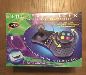 "Vintage PS1 Playstation 1 Nyko ""The Maximizer"" Arcade Joystick NOS Brand New HTF"