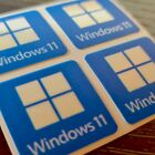 Windows 11 Sticker Case Badge Decal - 4 Stickers - LUMINOSCENT