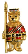 Royal Teddies Yeoman Teddy Brooch GoldPlated Hand Enamelled Crowns&Regalia 28258