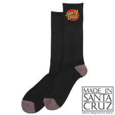 Official Santa Cruz Original Classic Dot Black Crew Socks [size 9-11]