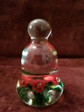 """US Paperweight Signed """"Wheatonware 1973"""" Large Bell-Shaped"""
