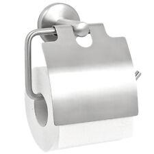 Soporte de papel higiénico bremermann® de la serie de baño PIAZZA con tapa, mate