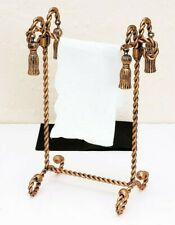 Antique Gold Iron Swag & Tassel Towel Stand