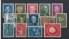Niederlande Jahrgang 1954 Postfrisch nach NVPH Komplett ohne Juliana en profile