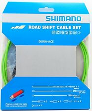 Shimano Dura Ace 9000 Road Polymer Shift Cable Set w/ FREE End Cap x3, Green