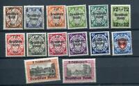 Germany Danzig 1939 Mi 716-729 Sc 241-54 MNH CV €220 Overprint  7137