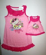 New Jumping Beans Girls 2pc Dolly & Me NightGown Matching set size 6 NWT