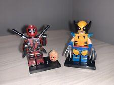 DEADPOOL & WOLVERINE Custom Brick Lego Compatible Minifigures UK shipping! X-men