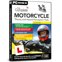 COMPLETE MOTORCYCLE THEORY & HAZARD PERCEPTION TESTS 2020 PC DVD-ROM