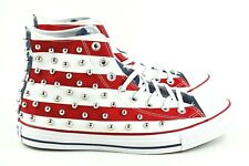 Converse Chuck Taylor All Star Hi Mens Size 9 CTAS Shoes 160994C USA Flag