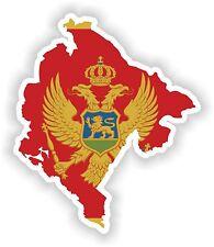 Montenegro LandKarte Flagge Aufkleber Silhouette Motorrad Auto Helm Laptop