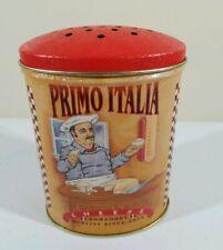 "Primo Italia Cheese Shaker Collector 5"" Tin Can"