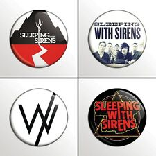 """4-Piece SLEEPING WITH SIRENS (#1) 1"""" Pinback Band Buttons / Pins / Badges Set"""
