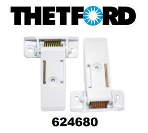 Thetford SR Freezer Door Hinge in white - Part no.62468008 (Pack of 2)