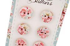 Nouveau Style Vintage Fleurs sauvages et Pack Gratuit De Boutons