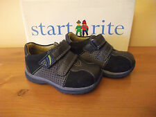Boys START-RITE 140 Navy NUBUCK Hook/Loop Strap SHOE UK 3E(Narrow) Eur 19 NEW