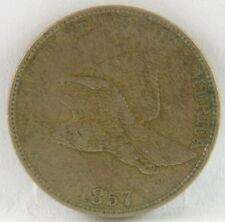 1857 US Mint American Flying Eagle 1 Cent Coin Penny NR