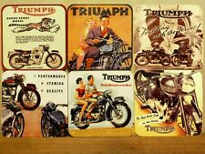 SET OF SIX 95MM COASTERS - TRIUMPH MOTORCYCLES