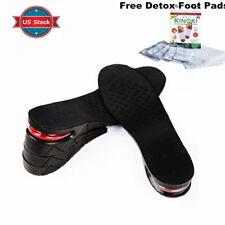 "2.75"" Men Shoe Lift Insole Air Cushion Heel insert Increase Taller Height Layer"