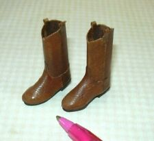 "Miniature ""Prestige Leather"" Cowboy Boots, BROWN - NEW Style: DOLLHOUSE 1/12"