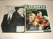 EUROPEO=1959/22=INGRID BERGMAN=CARROLL BAKER=MALATTIA ANSIA=VAL D'AOSTA=