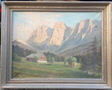 Alpes Peinture à L'Huile Culture Ensemble avec Vaches Foin ° pour Restauration
