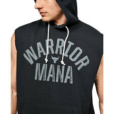 Under Armour Mens Project Rock Terry Sleeveless Quick Dry Hoodie 1352693 large