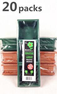 20x Pack of 3 Planter Mini Garden Mini Pots w Tray Home Flower Planter #3258