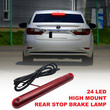 24 LED 12V Car High Mount Third 3RD Brake Stop Tailgate Light Lamp Red NEW