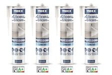 4 Silikon Professional Sanitär weiß 280ml Nassbereich Bad Innen Außen Dichtmasse