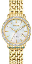 EW2282-52D,CITIZEN Eco-Drive Watch,32 Diamonds,Mother Of Pearl Dial,Date,WR,Lady