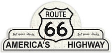 65x30cm Route 66 Shield Tin Sign