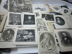 70+ Lot of Antique Etchings from 1700's & 1800's ~ Unknown Lot