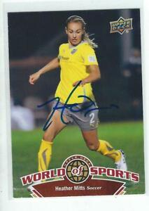 Heather Mitts Signed 2010 Upper Deck WOS Stars Womens Soccer Card #107