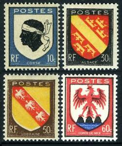 France 562-565,MNH.Michel 752-755. Arms of Corsica,Alsace,Lorraine,Nice,1946.