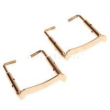 2 Pcs Gold Plated Violin Chinrest Clamp Screw for 3/4 4/4 Violin Parts