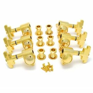 Wilkinson Guitar Tuners Gold 3x3 Imperial Style Guitar Tuning Pegs WJ-309 3+3