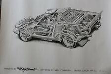 Lancia Stratos Cutaway Car Drawing Poster Signed & Numbered By Shin Yoshikawa
