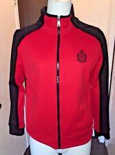 Lauren Ralph Lauren Active Crest Full Zip Track Jacket Red and Black Medium Peti