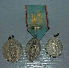 Lot de 3 Médailles Religieuses