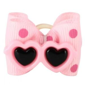 Pet Hair Bows Grooming Accessories With Elastic Band Cat Hair Bows Polyester