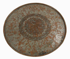 67 cm antik Massiv orient Kupfer tablett Teetisch Afghanistan copper tray No-6